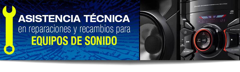 Reparación de equipos de sonido en Las Rozas, Majadahonda, Torrelodones, Galapagar